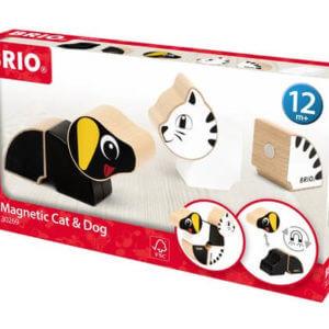 Brio mágneses kutya és cica