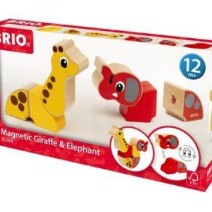 Brio Mágneses zsiráf és elefánt