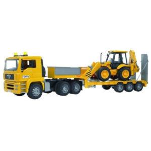 Bruder MAN TGA és JCB 4CX teherautó és tréler