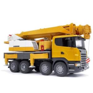 Bruder Scania teherautó Liebherr daruval