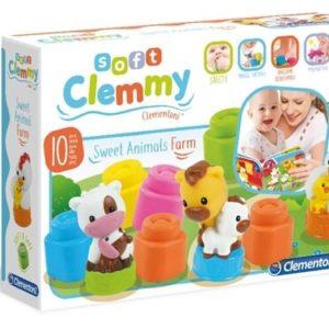 Clementoni Clemmy Baby Mókás farm könyv és puha építőkocka