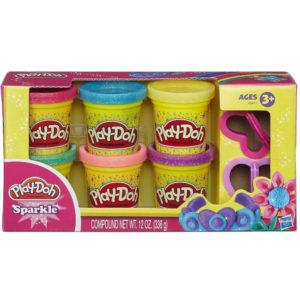 Play-Doh Csillogó gyurmakészlet
