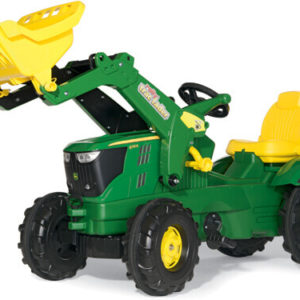 Rolly Toys John Deere 6210 R pedálos traktor homlokrakodóval