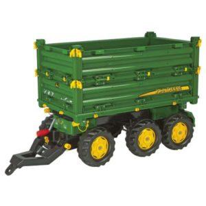 Rolly Toys John Deere Multitrailer három oldalra billenős utánfutó