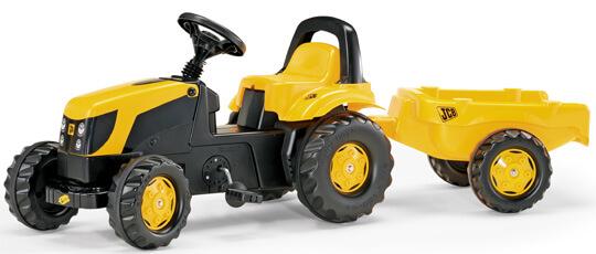 Rolly Toys Rolly Kid JCB pedálos traktor utánfutóval