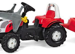 Rolly Toys Rolly Kid Steyr pedálos traktor homlokrakodóval és utánfutóval